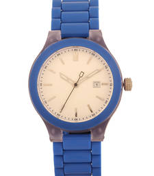 Buy White Round Dial Stylish Unisex Analog Watch watch online