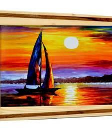 Buy Natural Wood Color Wooden Photo Frame photo-frame online