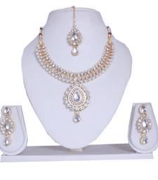 Buy Multicolor diamond necklace-sets fashion-deal online