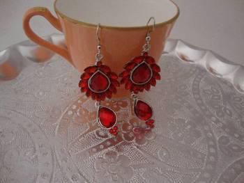Red Love Ear rings