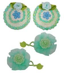 Buy 2 Tic Tac Hair Clips 2 Rubber Band Green Blue Dailywear Schoolwear hair-accessory online
