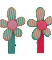 Buy 2 Tic Tac Hair Clips Green Pink Dailywear Schoolwear hair-accessory online