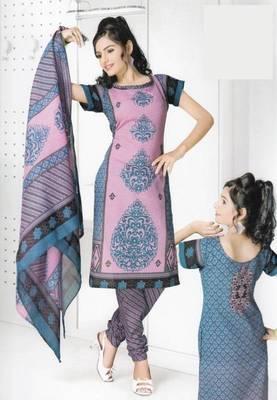 Dress Material Cotton Designer Prints Unstitched Salwar Kameez Suit D.No B10004