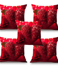 Buy Love Heart HD Digital Premium Cushion Cover - Set of 5 (16 x 16 Inch) cushion-cover online