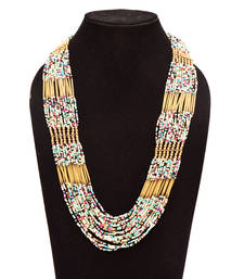 Buy Multi Color Handmade Artificial Jewellery With Metal Thread And Beads party-jewellery online