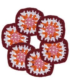 Buy Multicolor Handmade Kanchan Crochet Coaster Set (Pack of 6) coaster online