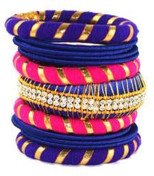 Buy Traditional gota dori for women  and  girls  multicolor silk thread bangle 2.6 (13 pcs) bangles-and-bracelet online