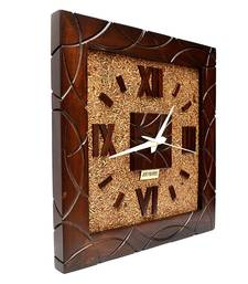 Buy Hand Crafted Antique Square Shape Wooden Wall Clock wall-clock online