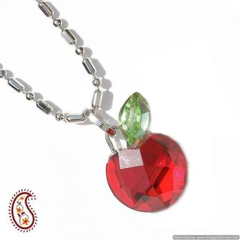 Red Apple Crystal Pendant