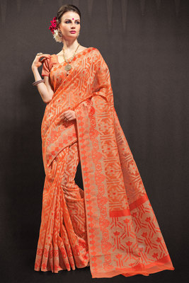 orchid woven organza saree with blouse