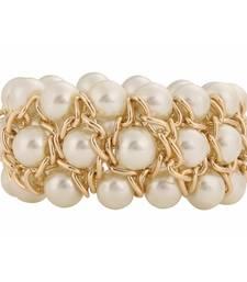 Buy yellow gold pearl bracelet for girls and women Bracelet online