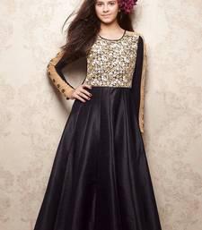 Buy Black zardosi banglori silk kids salwar kids-salwar-suit online