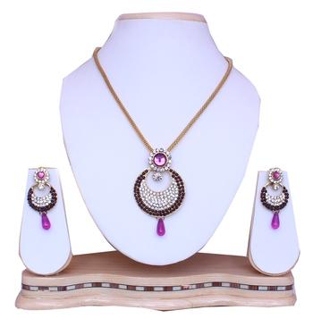 Purple diamond pendants