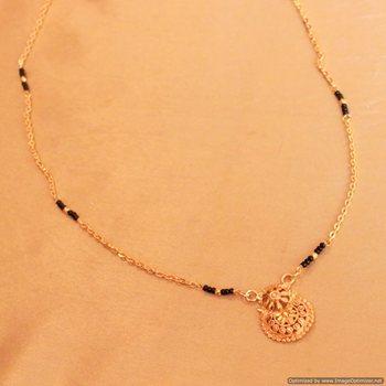 Gold Look  Filigree Pattern Mangalsutra
