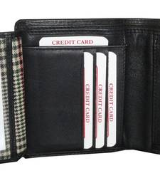 Buy BLACK Leather plain wallets wallet online