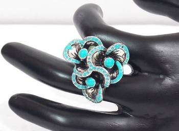 Turquoise Flower Style Ring