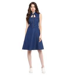 Buy Blue Denim dresses dress online