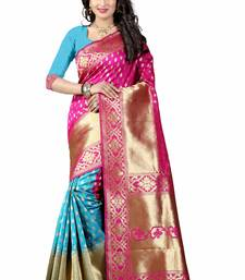 Buy Pink hand woven art silk saree with blouse black-friday-deal-sale online
