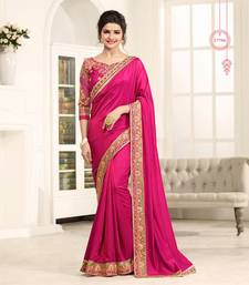 Buy Pink embroidered silk saree with blouse art-silk-saree online