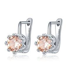 Buy Beige swarovski crystal earrings Earring online