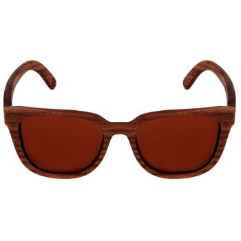 Luciano -  Mocha Wooden  Sunglasses