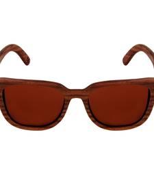 Buy Luciano -  Mocha Wooden  Sunglasses sunglass online