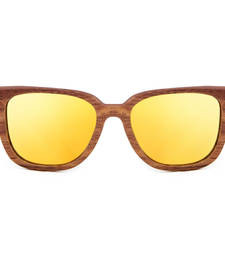 Buy Luciano -  Gold Wooden  Sunglasses sunglass online