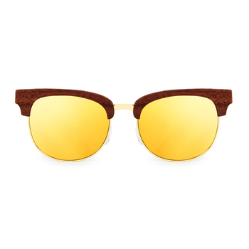 Fabiano Gold ClubMaster Wooden Sunglasses