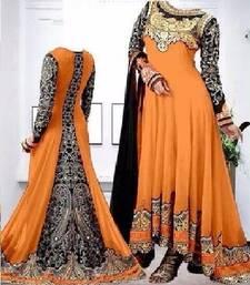 Buy Orange embroidered georgette salwar indian-dress online