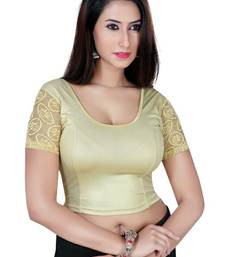 Buy Gold solid  stretch stitched blouse readymade-blouse online