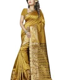 Buy Multicolor hand woven banarasi silk saree with blouse banarasi-silk-saree online