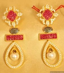 Buy Ruby Golk Plated Diamond Look Danglers danglers-drop online