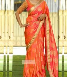 Buy multicolor Women's Zarna Silk Designer sarees georgette-saree online