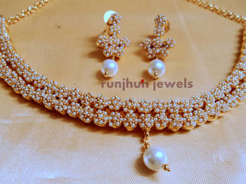 royal pearl polki necklace