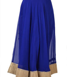Buy Georgette Blue Gotta Patti Skirt with Tassel Online