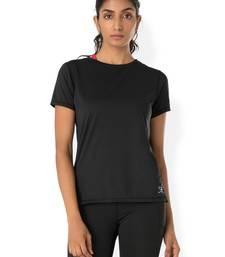 Buy Black workout gym wear Crew Neck Tee workout-gym-wear online