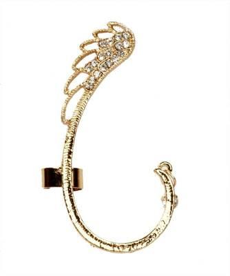 9blings CZ gold plated fancy Bollywood style ear cuff ec25