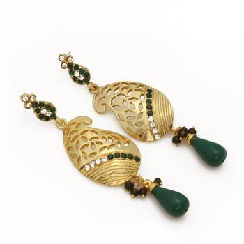 Gorgeous Bottle Green Danglers