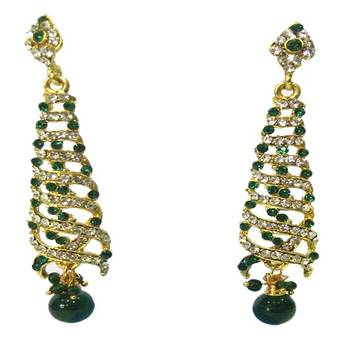 Gold Plated Indo-Western Style Earrings