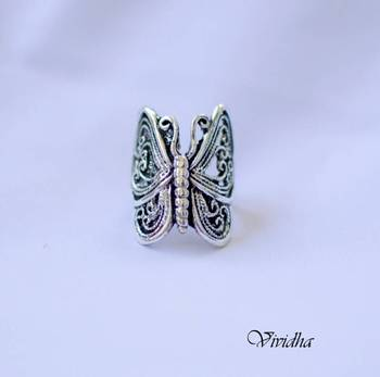 Silver Finsh  Butterfly Ring