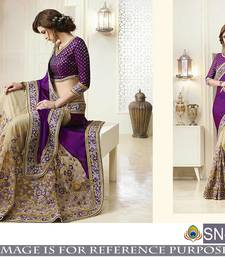 Buy Purple embroidered silk saree with blouse traditional-saree online