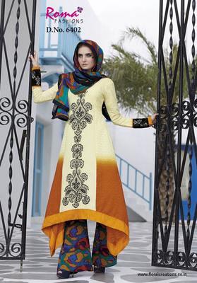 Designer Crape Aline Suit