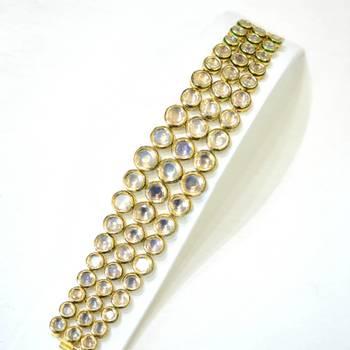 Polki 3 lines bracelet