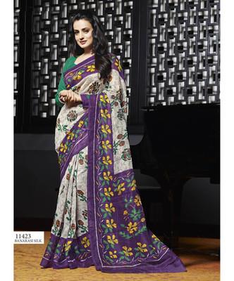 Styloce Multi Color Bhagalpuri Silk Saree-STY-106-11423