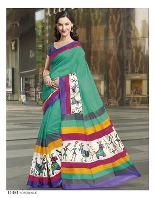 Styloce Multi Color Bhagalpuri Silk Saree-STY-106-11451