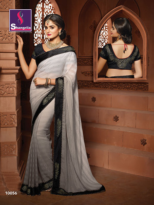 FANCY DESIGNER SAREE WITH SEMI STICHED VELVET BLOUSE