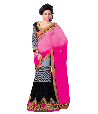 Ethnicbasket party wear  gorgeous lengha saree.With Blouse