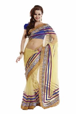 Beautiful designer Saree in a Chiffon Fabrics