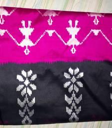 Buy Hot pink hand woven south silk saree with blouse ikat-saree online