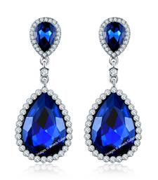 Buy Blue crystal earrings Earring online